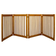 Large Wide Dog Gate Free Standing  Wood/Wire Pet Gate - 30""