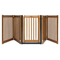 Wide Pet Dog Gates with Door Free Standing Wooden Pet Gate - 32""