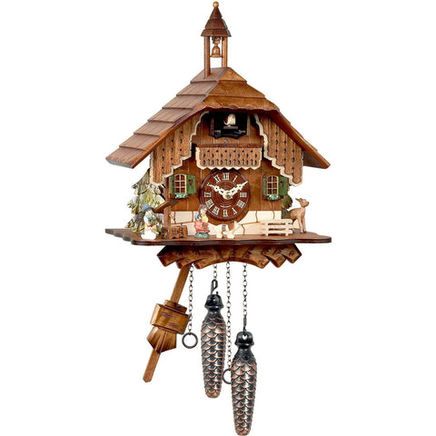 Deer, Boy, and Girl, Quartz Chalet Cuckoo Clocks - SavvyNiche.com
