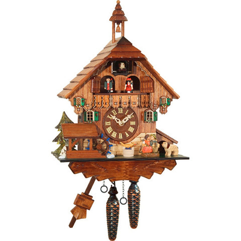 Quartz Cuckoo Clock Chalet Cottage, Quartz Chalet Cuckoo Clocks - SavvyNiche.com