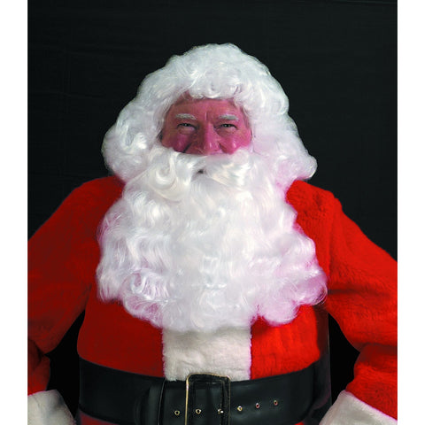 Deluxe Santa White Wig & Beard Set, Santa Claus Wig and Beard Sets - SavvyNiche.com