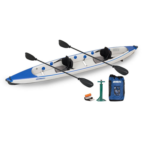 Razorlite Inflatable Kayak 473RLK Tandem Pro Carbon Package, Inflatable Kayak - SavvyNiche.com