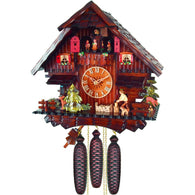 Cuckoo Wall Clock Beautiful German Chalet, 8 Day Musical Chalet Cuckoo Clocks - SavvyNiche.com