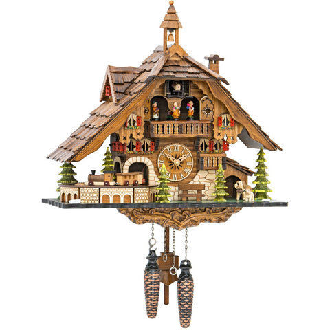 Moving Train, Quartz Chalet Cuckoo Clocks - SavvyNiche.com