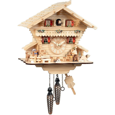 Wood Chopper, Quartz Chalet Cuckoo Clocks - SavvyNiche.com