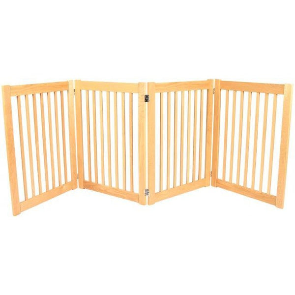 "Free Standing Pet Dog Gate Wooden Outdoor Pet Gate 32"" White Oak"