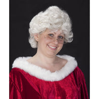Mrs. Claus Short and Sassy Wig, Mrs. Claus Costume Suit - SavvyNiche.com