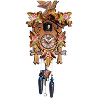 Quartz Cuckoo Clock Flowers, Leaves and Bird, Quartz Cuckoo Clocks - SavvyNiche.com