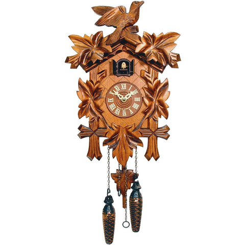 Battery Cuckoo Clock Leaves and Bird, Quartz Cuckoo Clocks - SavvyNiche.com