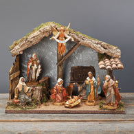 9 Piece Nativity Set Scene, Christmas Nativity Figurine Scene Sets - SavvyNiche.com