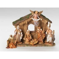 7 Piece Manger Nativity Scene, Christmas Nativity Figurine Scene Sets - SavvyNiche.com