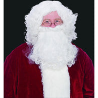 Economy Santa White Wig & Beard Set, Santa Claus Wig and Beard Sets - SavvyNiche.com