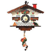 Black Forest<br>Chalet Clock:<br>Swinging<br>Black Forest Boy