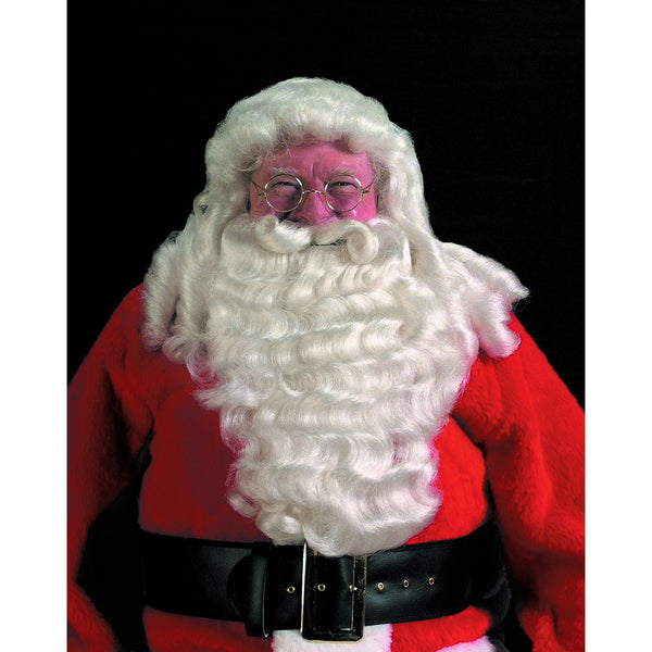 Deluxe Professional Santa Extra Full Wig & Beard Set, Santa Claus Wig and Beard Sets - SavvyNiche.com