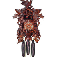 Exquisite Detail Leaves and Bird, 8 Day Musical Cuckoo Clocks - SavvyNiche.com