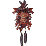 Exquisitely Carved Leaves and Bird, 8 Day Cuckoo Clocks - SavvyNiche.com