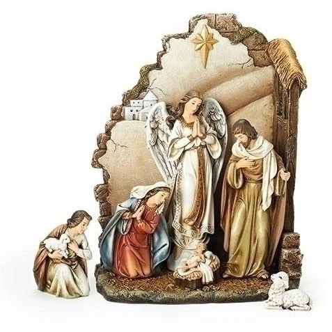 7 Piece Nativity Set, Christmas Nativity Figurine Scene Sets - SavvyNiche.com