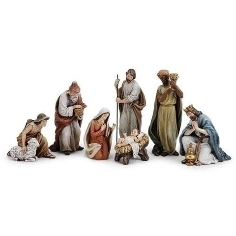7 Piece Manger Nativity Figurines Set, Christmas Nativity Figurine Scene Sets - SavvyNiche.com