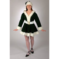 Green Velvet Perky Pixie, Elf & Santas Helper Costume Suits - SavvyNiche.com