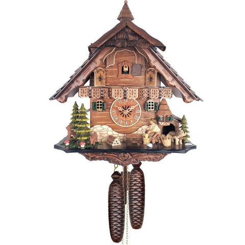 Cuckoo Clock - Man Chopping Wood, 8 Day Chalet Cuckoo Clocks - SavvyNiche.com