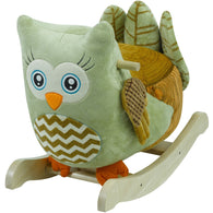 Owlivia Green Owl, Rocking Animals - SavvyNiche.com