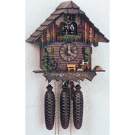 German Made Cuckoo Clock Wood Chopper, 8 Day Musical Chalet Cuckoo Clocks - SavvyNiche.com