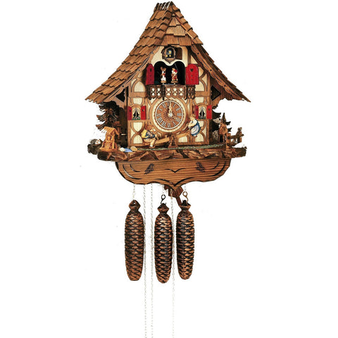 German Made Cuckoo Clocks See Saw Teeter Totter, 8 Day Musical Chalet Cuckoo Clocks - SavvyNiche.com