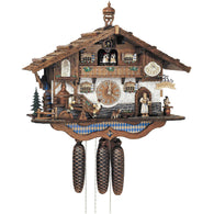 Cuckoo Wall Clock Beer Waitress and Beer Drinkers, 8 Day Musical Chalet Cuckoo Clocks - SavvyNiche.com