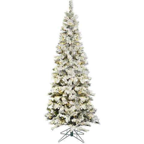 6.5 FT. Flocked Christmas Tree with Lights