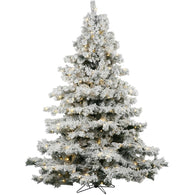 6.5 FT Large Flocked Artificial Christmas Trees