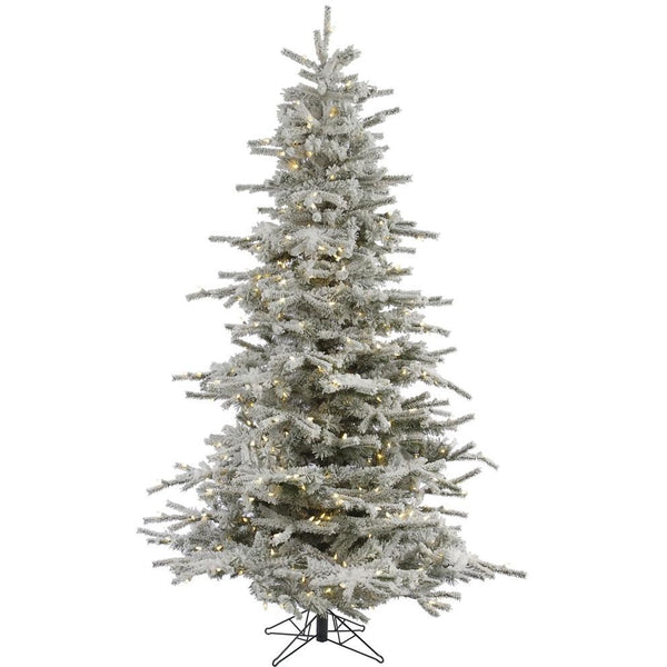8.5 FT Large Tall Flocked Christmas Tree