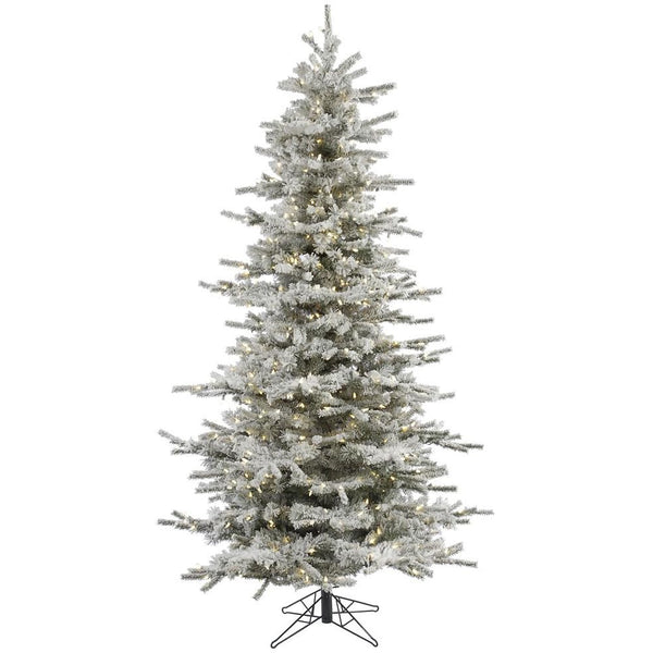 7.5 FT LED Pre Lit Flocked Christmas Tree