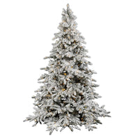 7.5 FT Big Flocked Christmas Tree with Lights