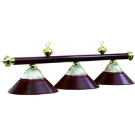Pool Table Light Fixture Burgandry, Metal Pool Table Lighting - SavvyNiche.com