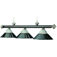 Billiard Lights Black and Chrome Pendant Light