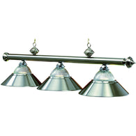 Stainless Steel Billiard Lamps, Metal Pool Table Lighting - SavvyNiche.com