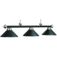 Billiard Light - Leather/Black Finish