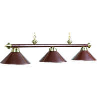 Billiard Brown Leather Pool Lamp Lights