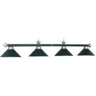 Billiard Light Black Leather Overhead Light