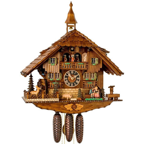 Kissing Lovers, 8 Day Musical Chalet Cuckoo Clocks - SavvyNiche.com
