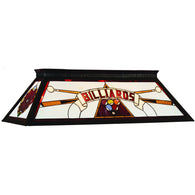 Red Billiard Table Light, Stained Glass Pool Table Light - SavvyNiche.com