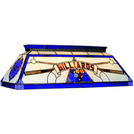 Tiffany Style Billiards Light Blue, Stained Glass Pool Table Light - SavvyNiche.com