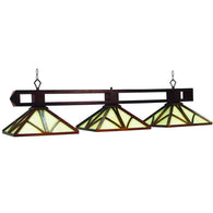 Chateau Chestnut Billiard Hanging Lighting Fixture, Stained Glass Pool Table Light - SavvyNiche.com