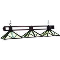 Chateau English Tudor Pendant Lights Fixture, Stained Glass Pool Table Light - SavvyNiche.com