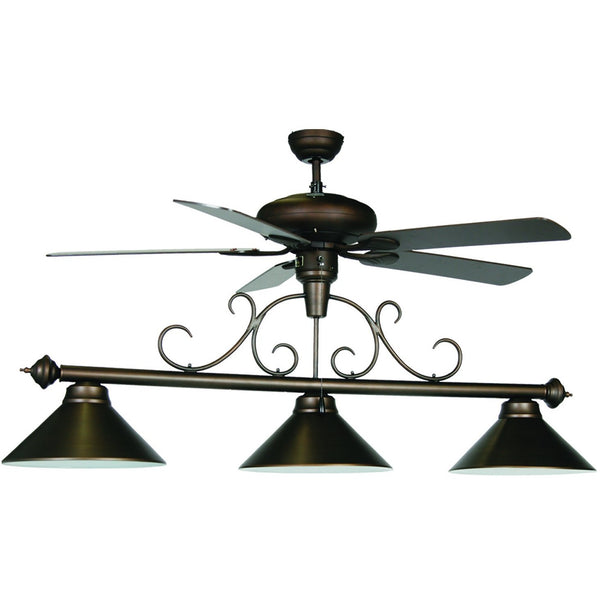Ceiling Fan Billiard Light, Metal Pool Table Lighting - SavvyNiche.com