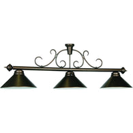 Pendant Metal Pool Table Light Bronze