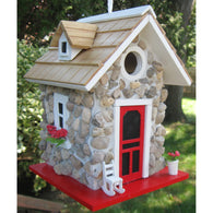 Bird house Cozy Guest Cottage Stone