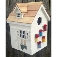 Bird Houses Potting Shed - White