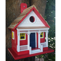 Outdoor Birdhouse Capitola Beach Cottage - Red