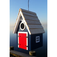 Outdoor Birdhouse Dockside Cabin Birdhouse - Blue